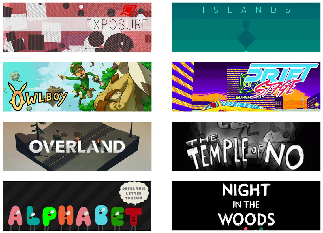 logos for the Featured Games