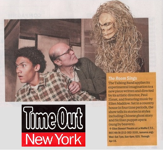Time Out New York ad for the Room Sings