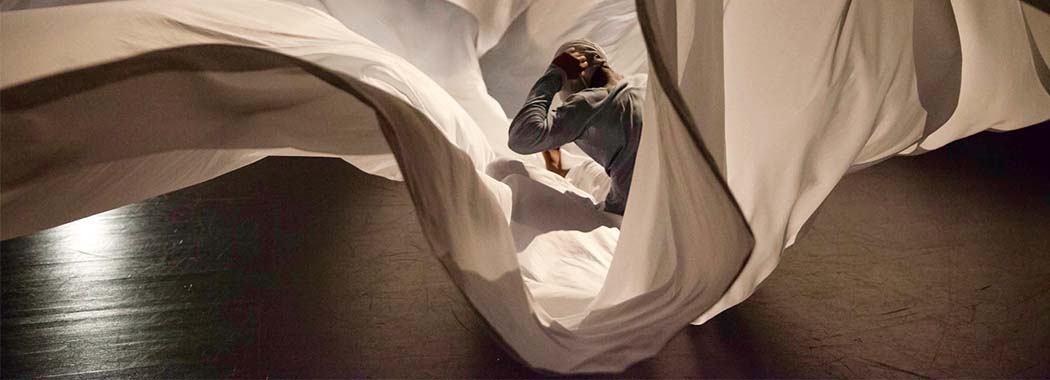 person in a white sheet