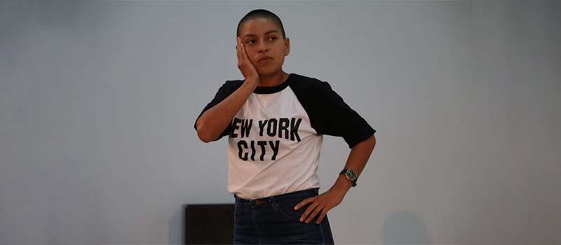 performer wearing a new york city shirt