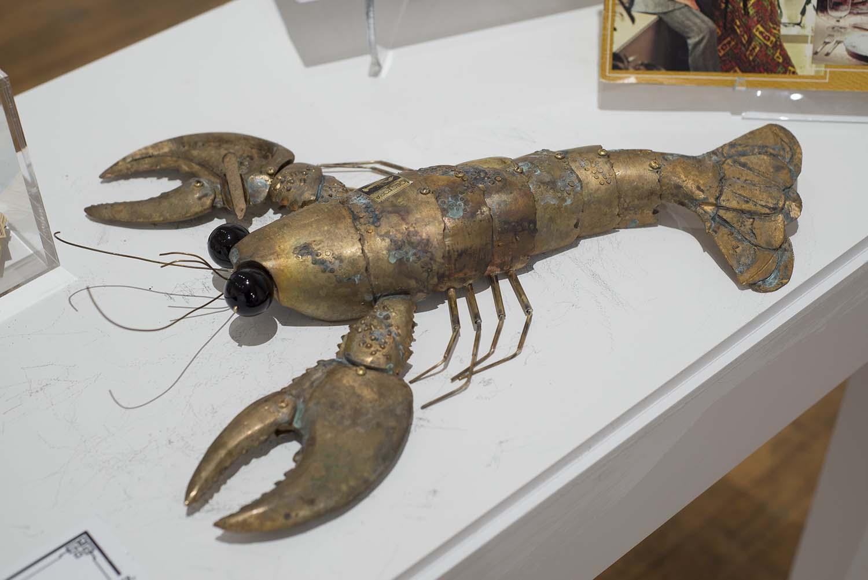 bronze lobster ashtray