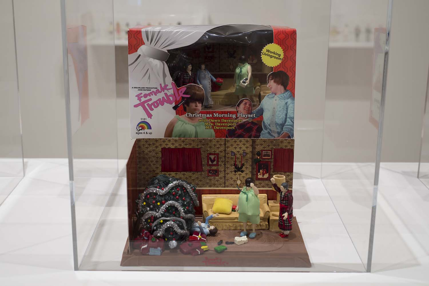 doll set in a glass case