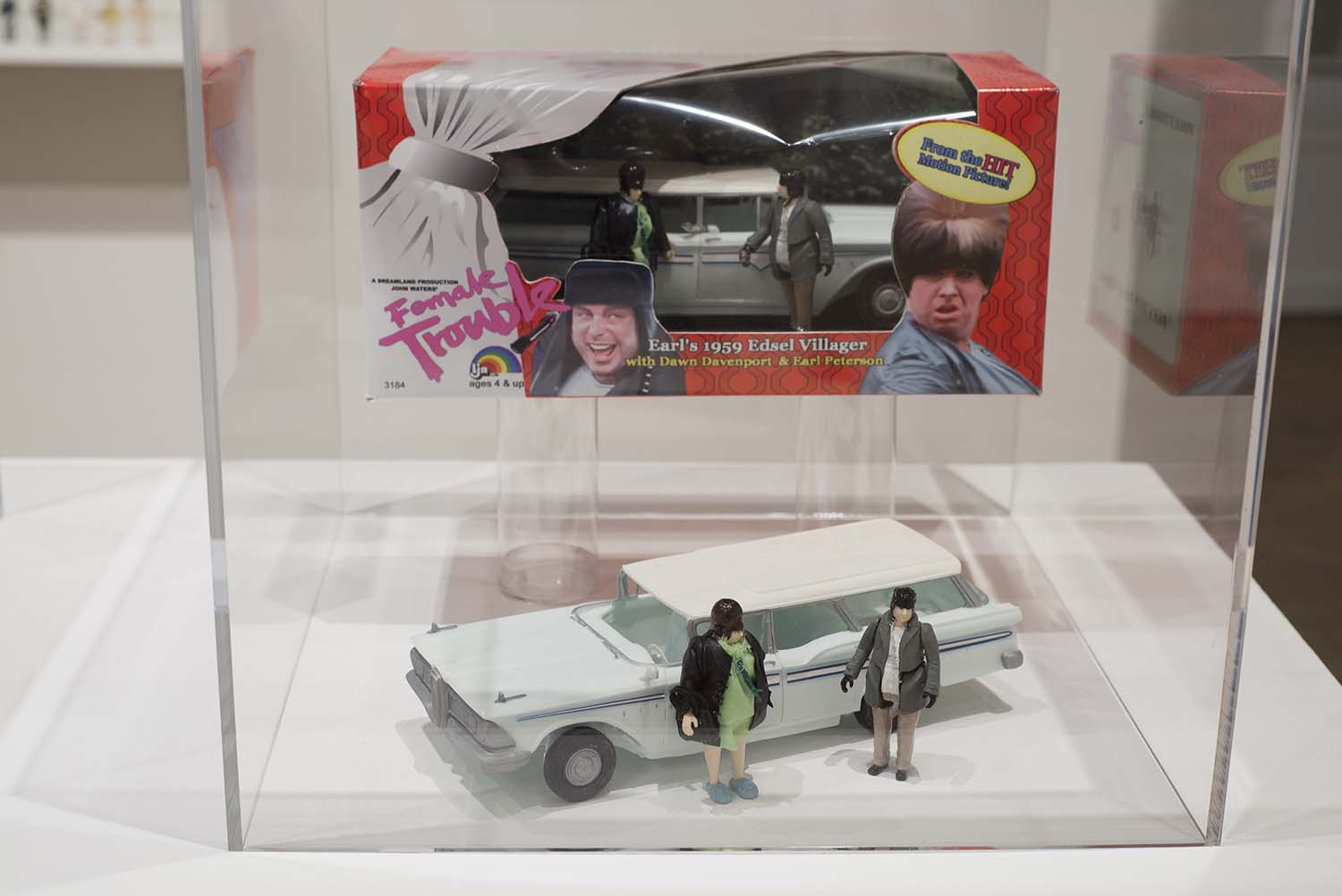 toy car in a glass display