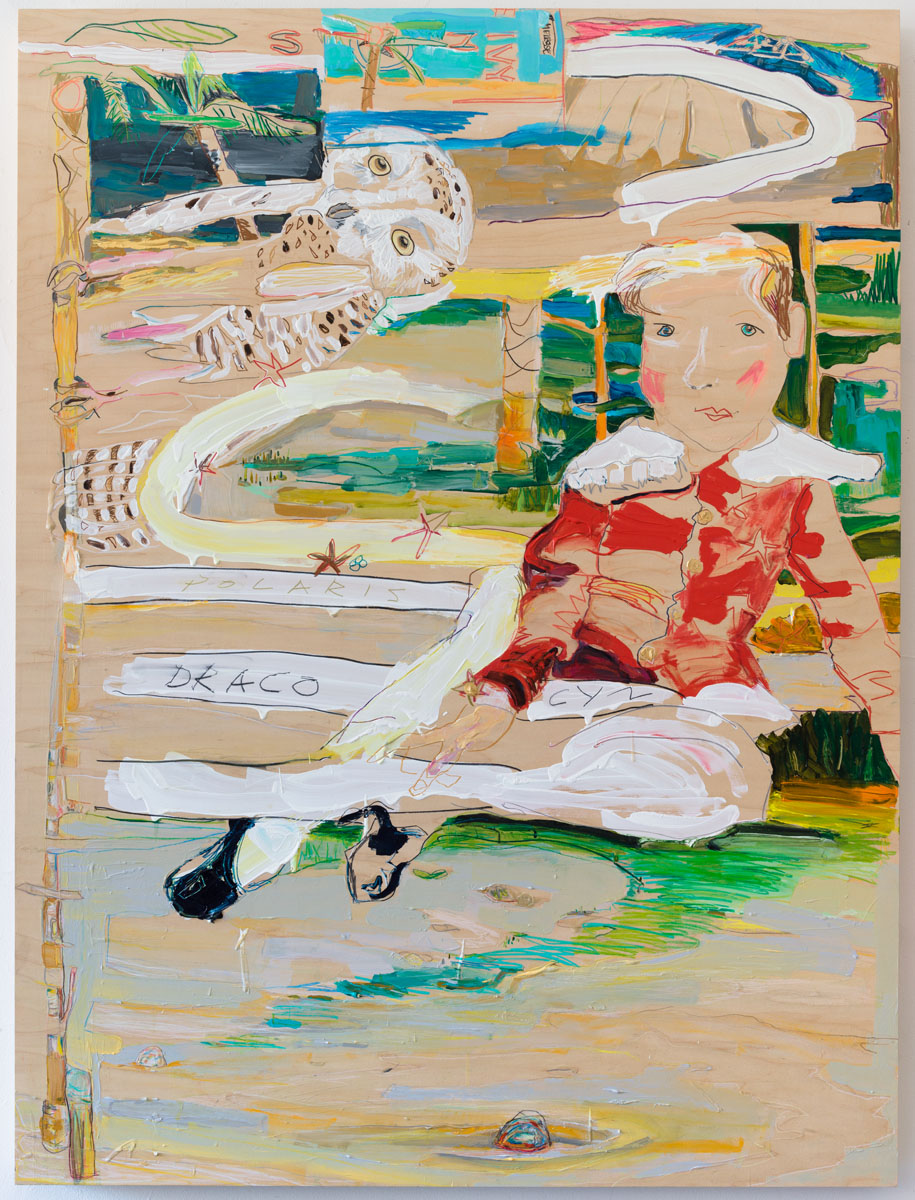 abstract painting of a doll