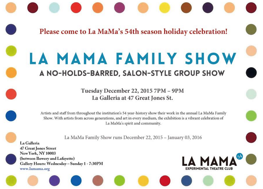 La MaMa Family Show poster with show information