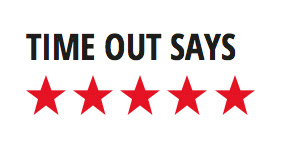 time out says with five red stars