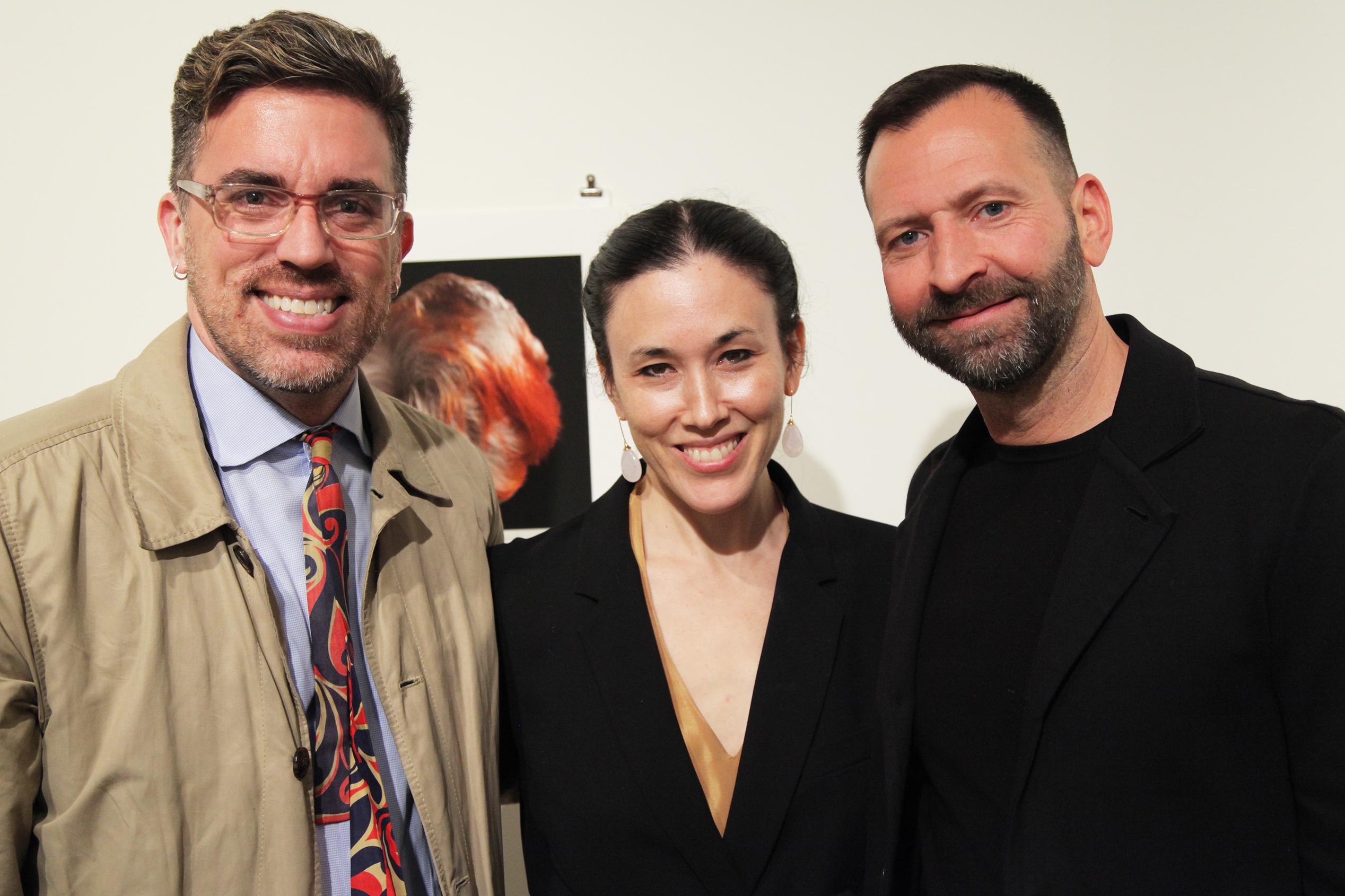 three people at la mama galleria