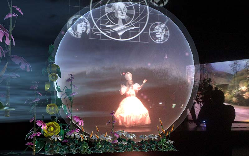 projection of glinda from the wizard of oz