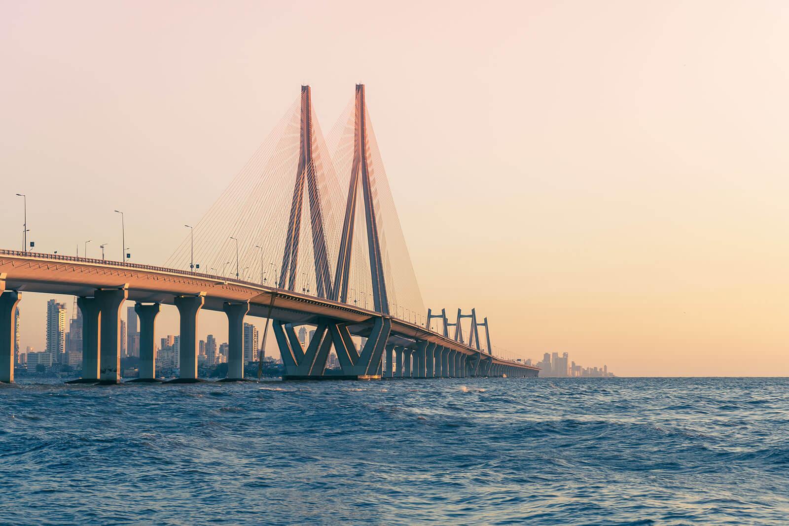 Photo of a bridge in Mumbai, India