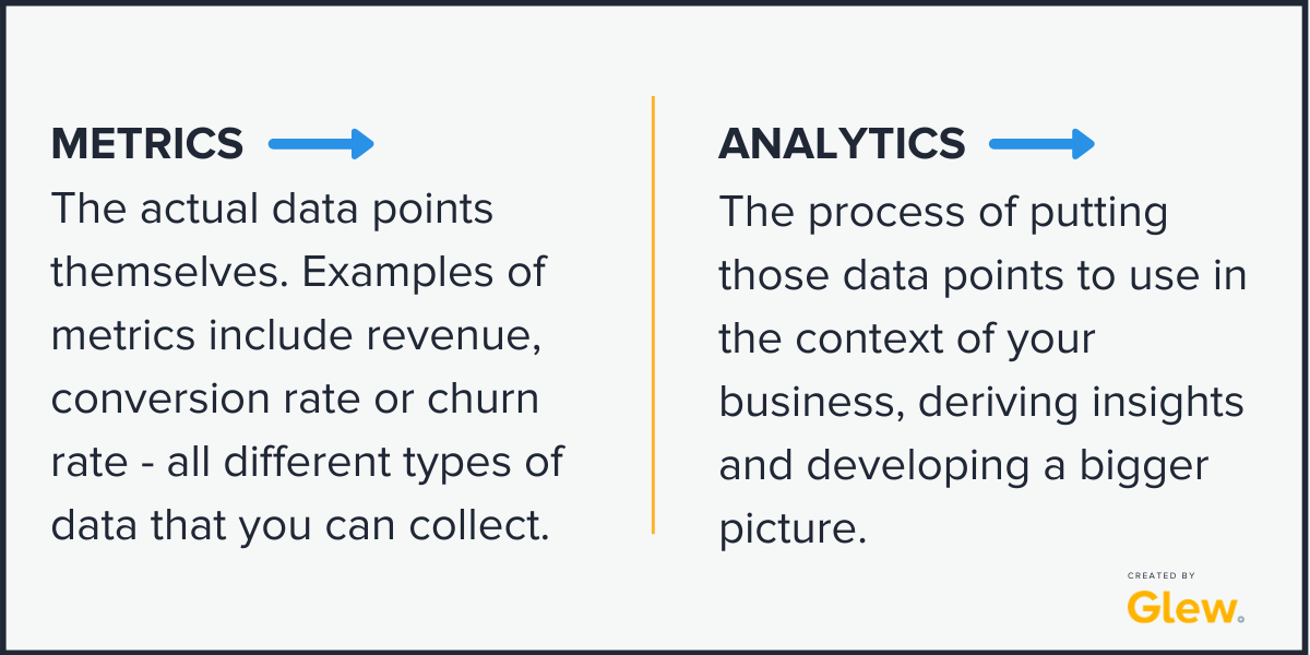 metrics versus analytics