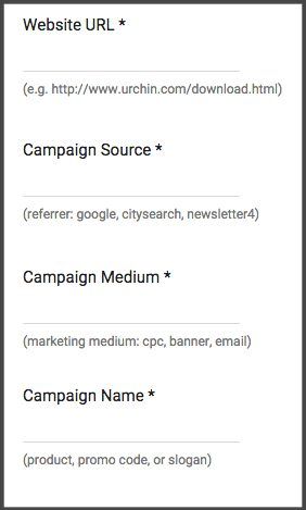 Required link tagging parameters
