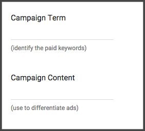 Optional link tagging parameters
