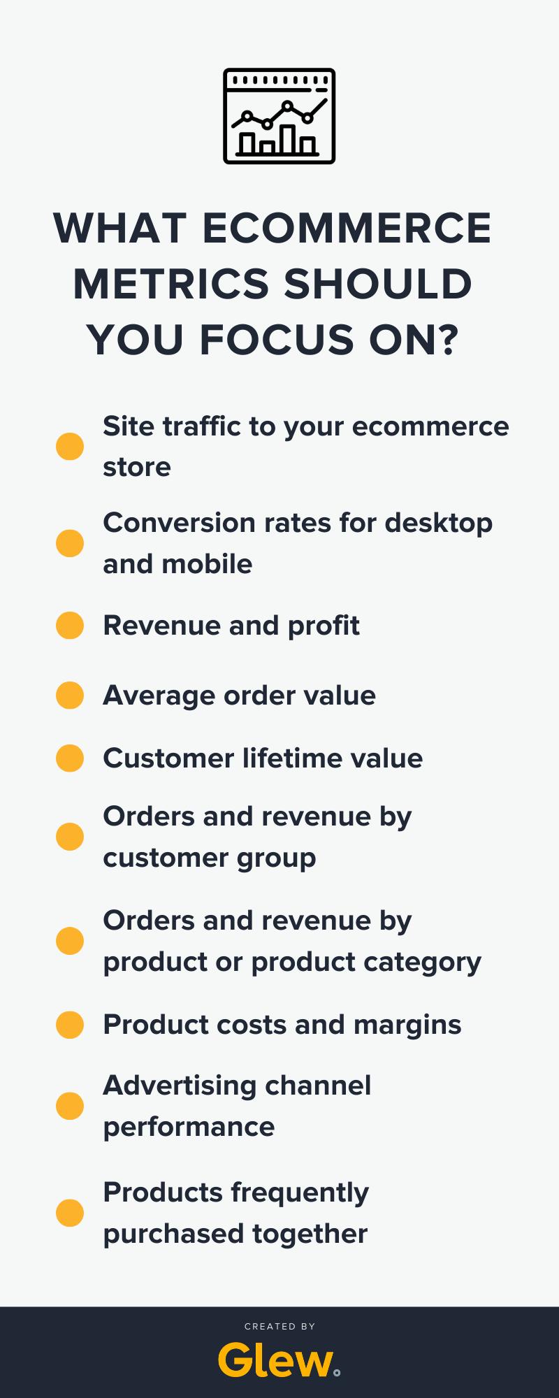 Primary ecommerce metrics to focus on