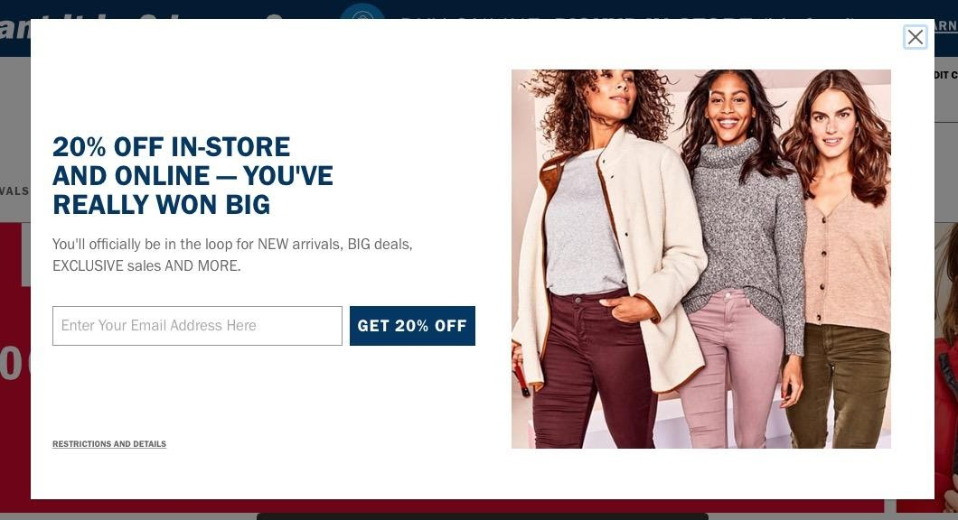 Example email from Old Navy