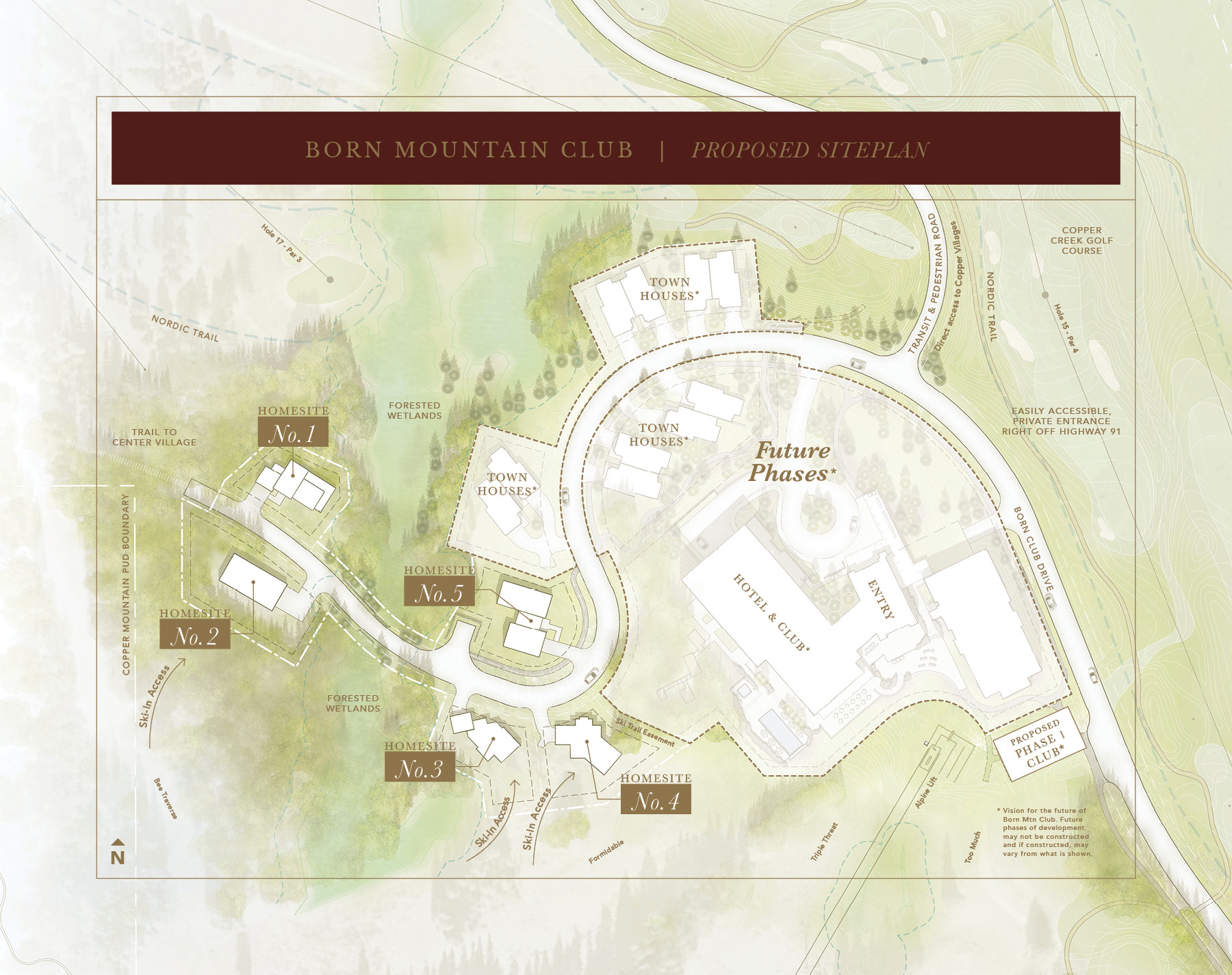 Proposed Siteplan for Born Mountain Club