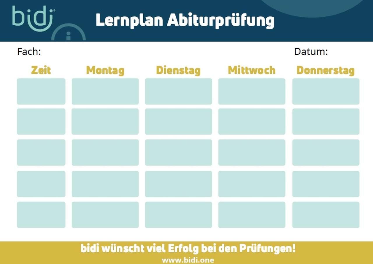 Lernplan Abiturvorbereitung