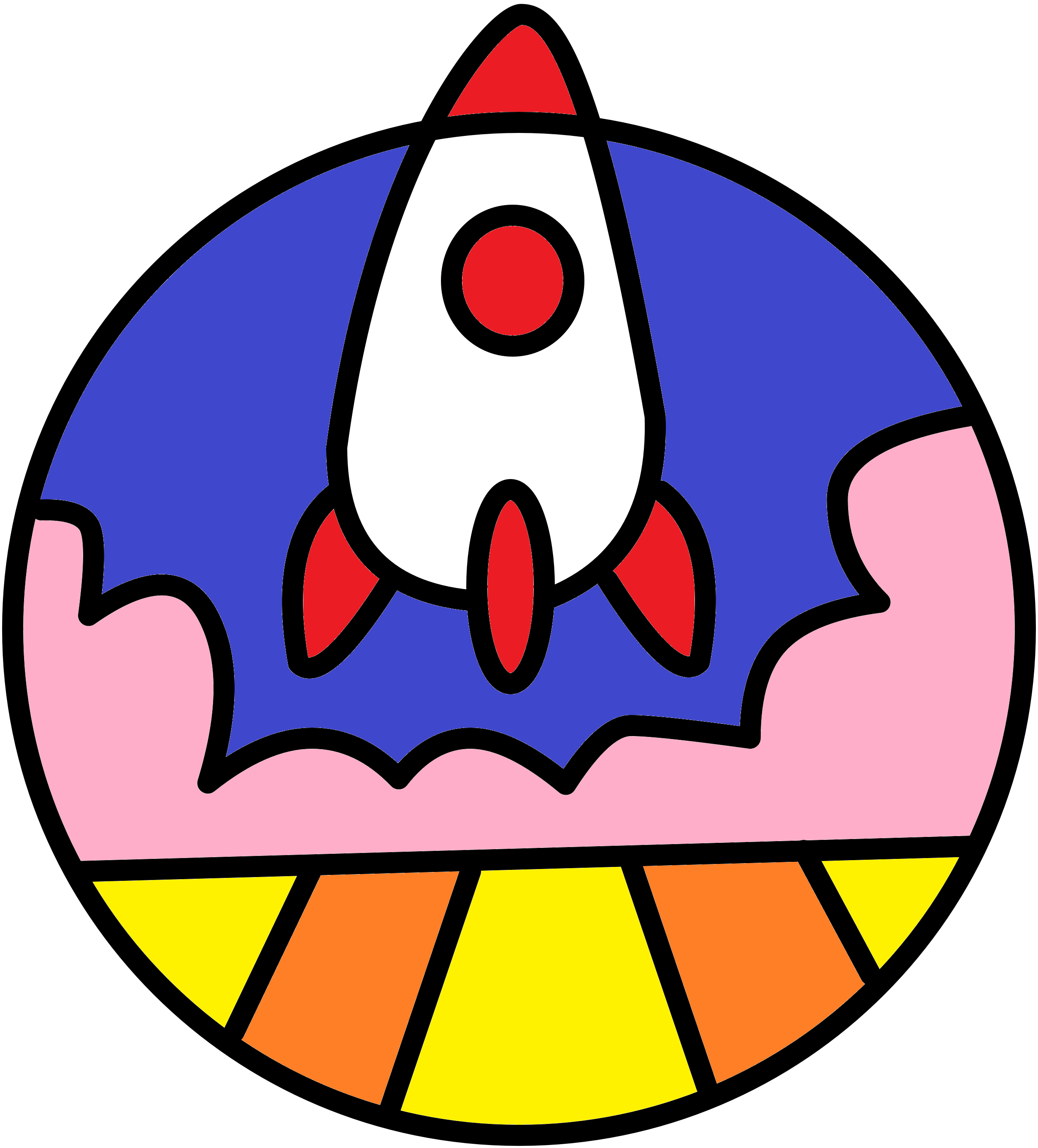 The rocket symbolises how to launch your stratup