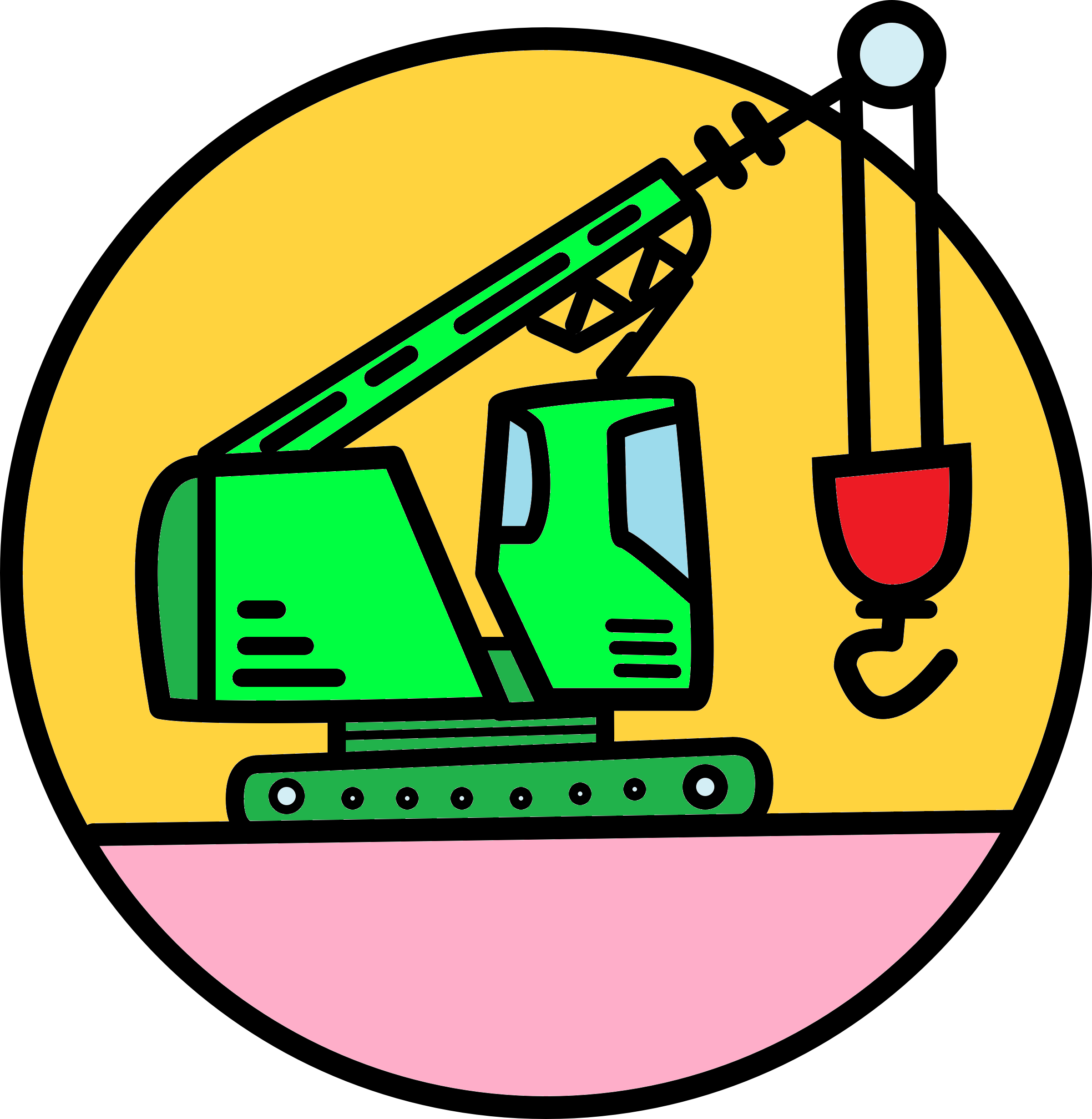 The crane symbolises how to build your product or service