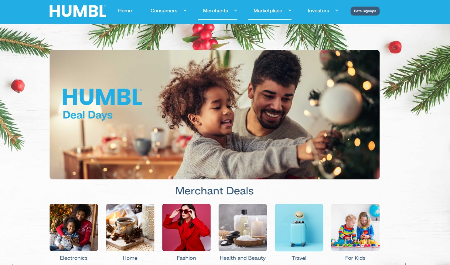 HUMBL® Announces Launch of Holiday Deal Days