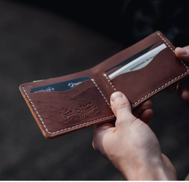 THE LOCAL BRANCH LEATHER BIFOLD WALLET