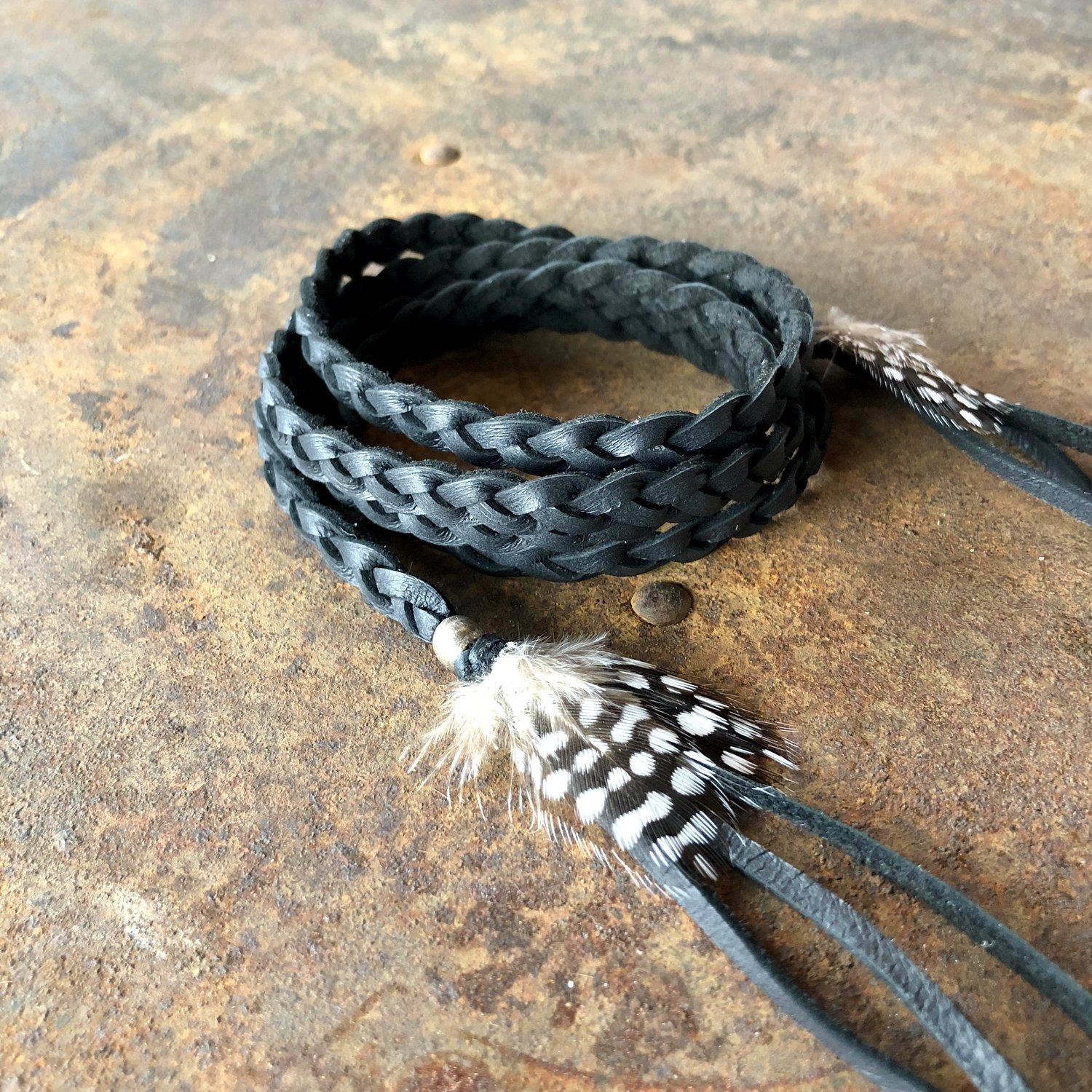 Leather Wrap Accessory - Black