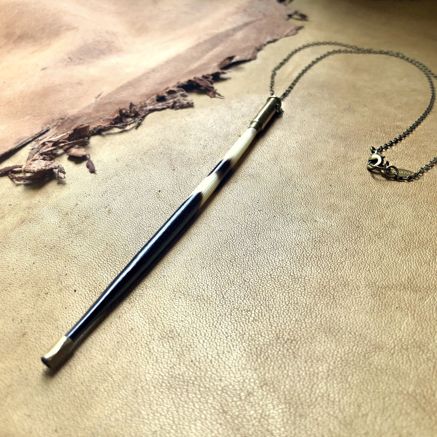Porcupine Quill in Bullet Necklace