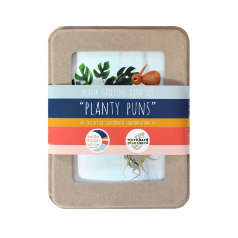 and the moon will rise NEW! Planty Puns 9-card Boxed Set #2