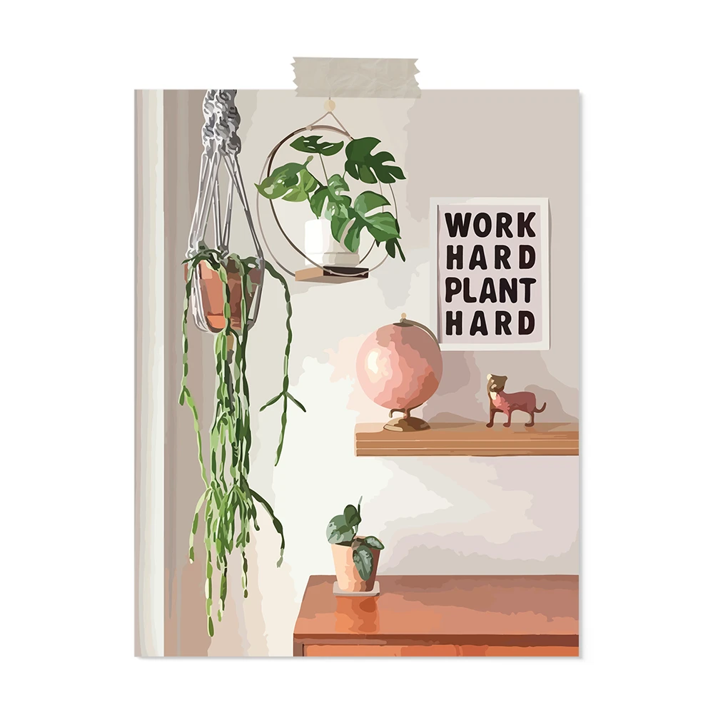 and the moon will rise NEW! Work hard plant hard: art print