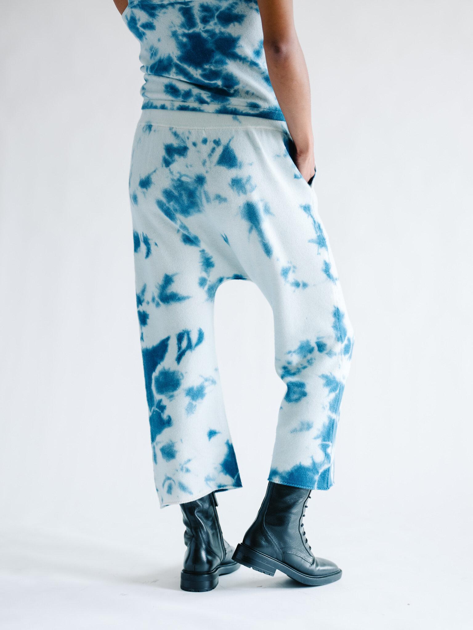 Cashmere Tie Dye Jogger / Blue