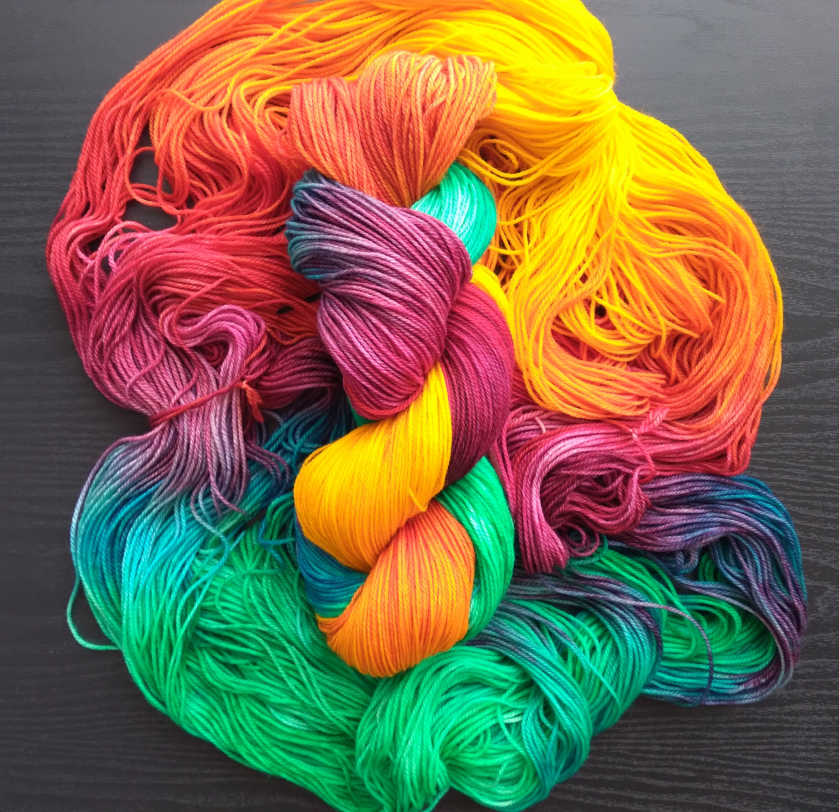 Rainbow yarn bundle