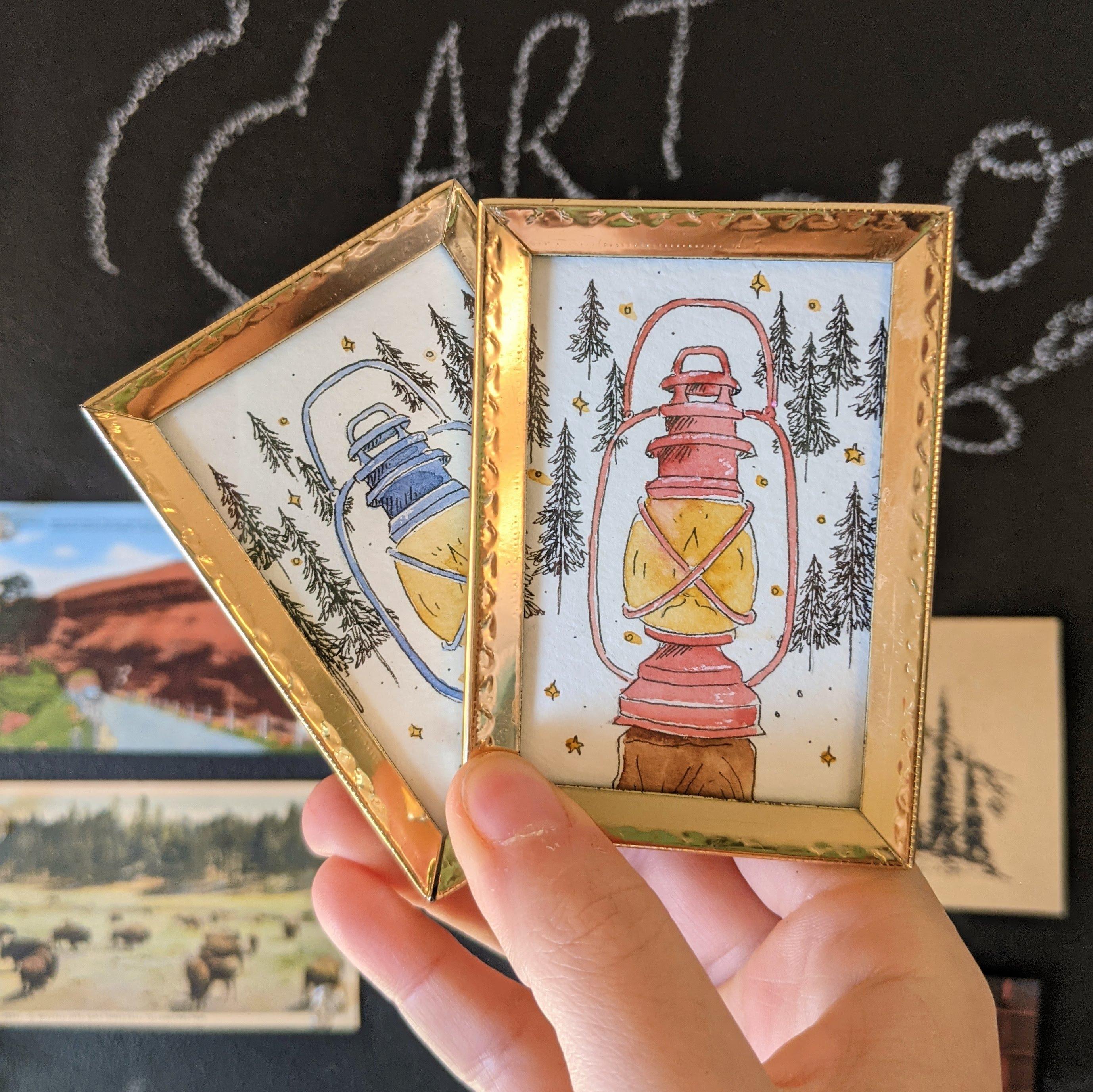 Lantern mini paintings