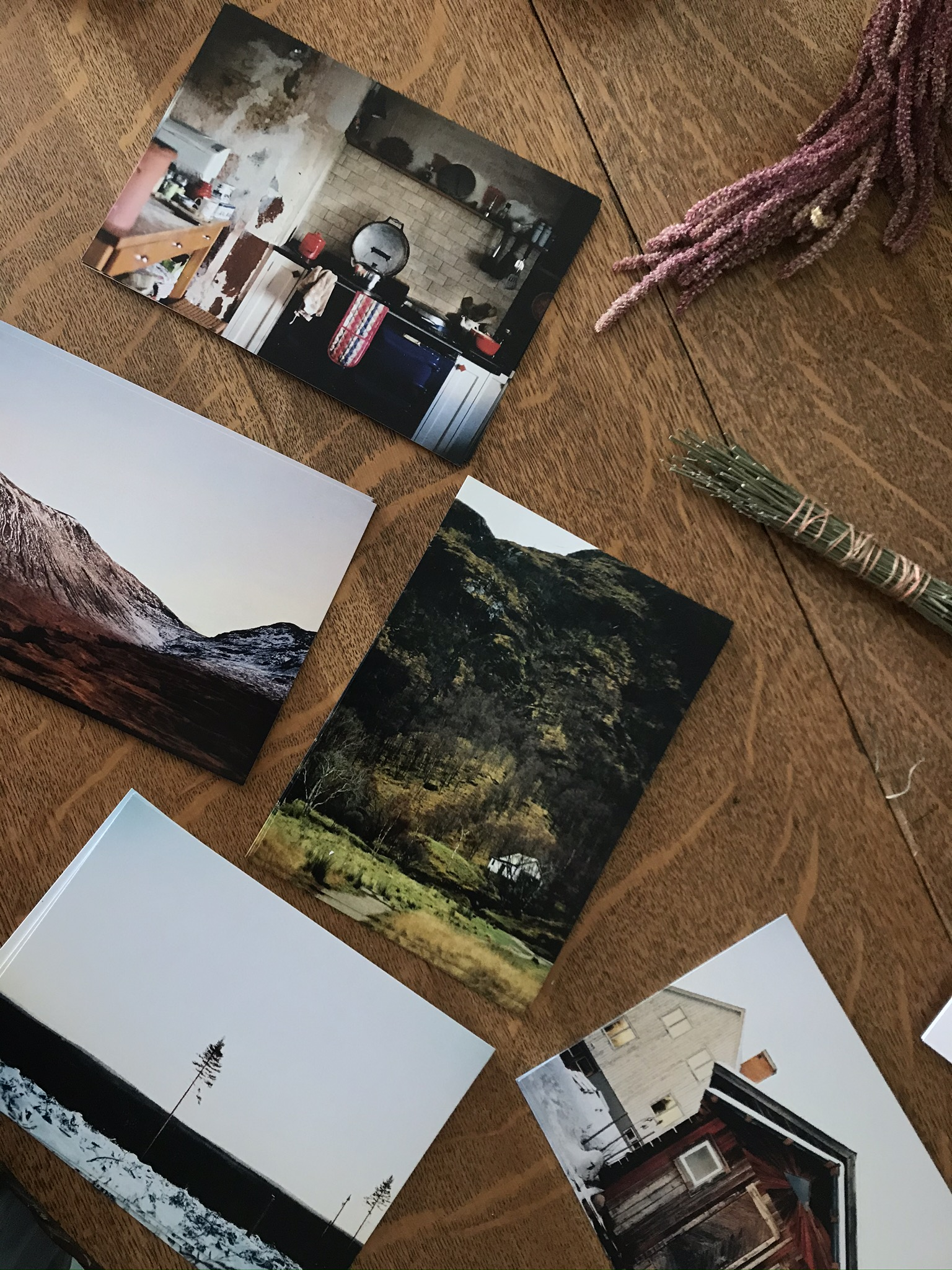 A set of postcards from Scotland, Sweden, and Wales.