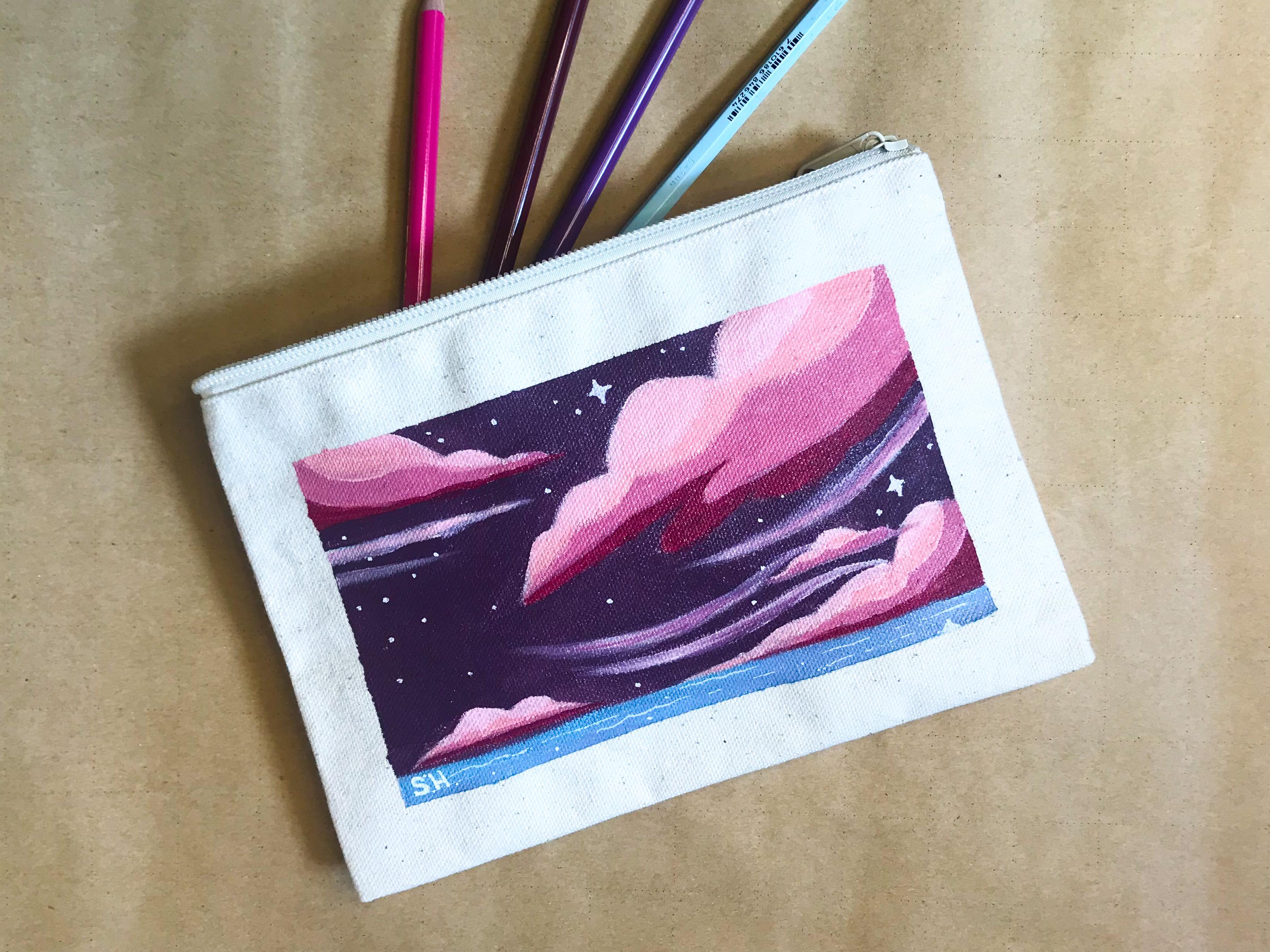 Canvas pencil case