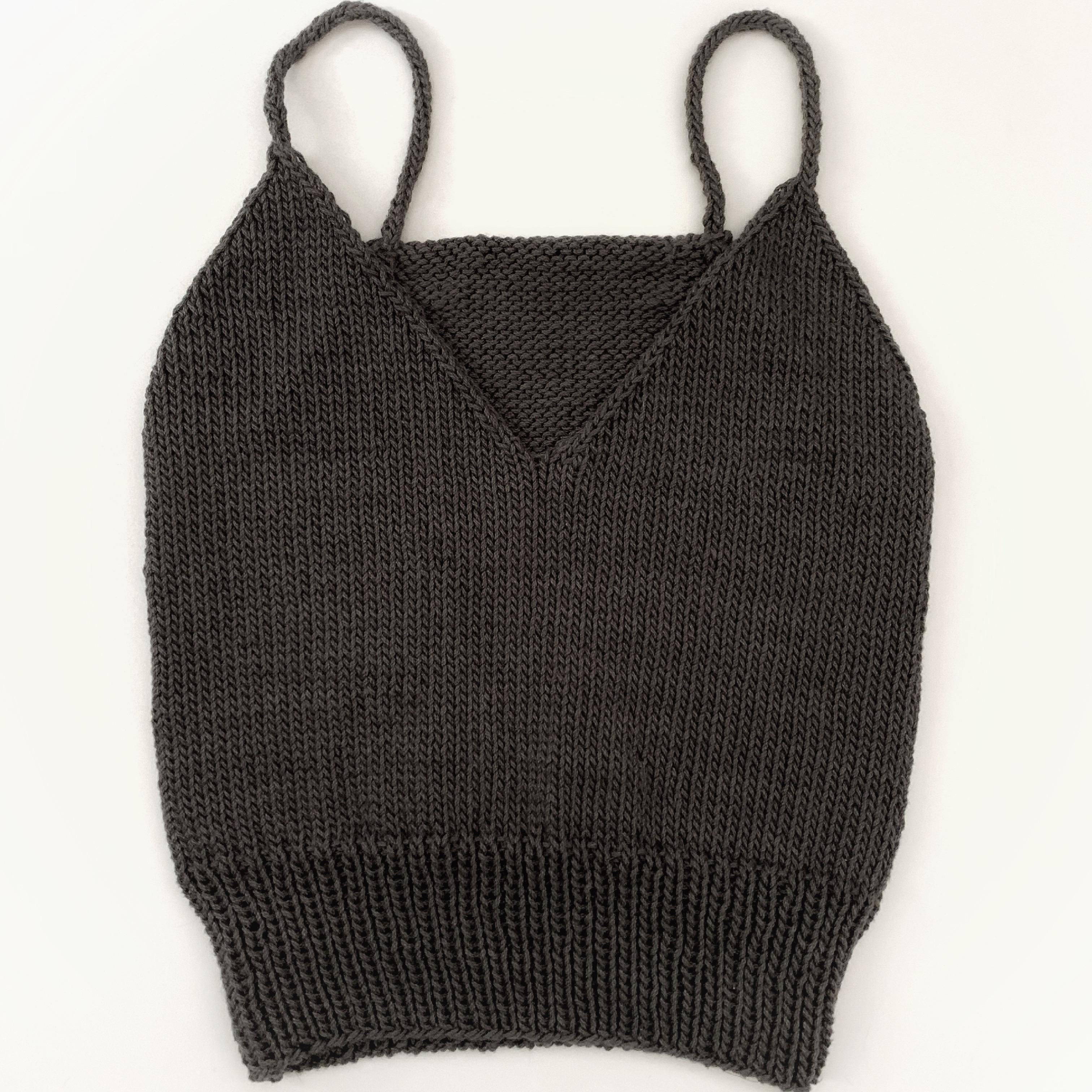 grey knitted bralette