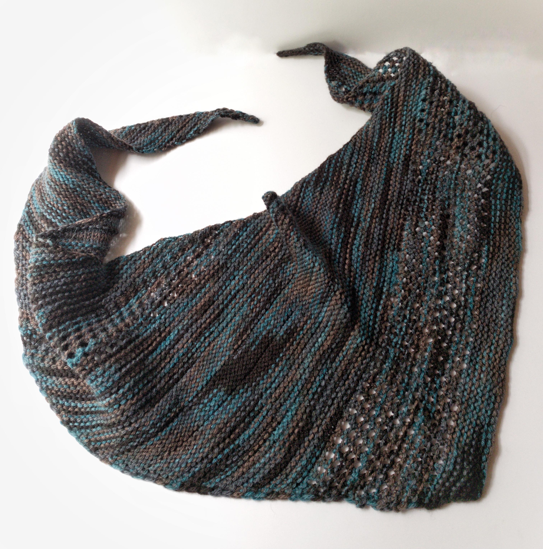 variegated small shawl