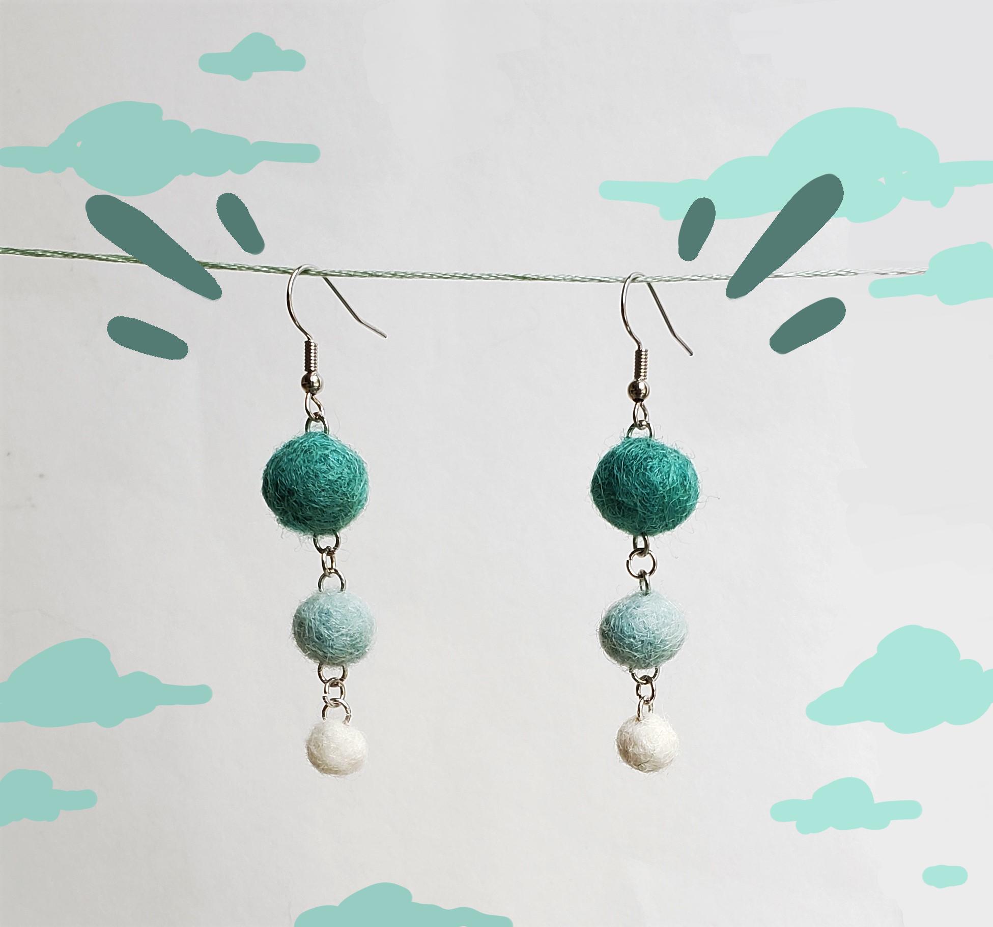 Image 5 - Felted ball earrings