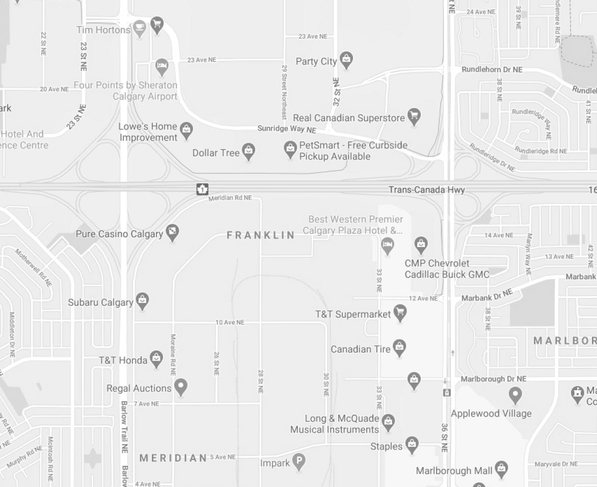 Map depicting the location of our Calgary office