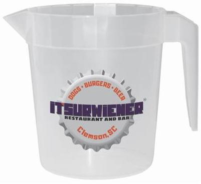 """ITSURWIENER Souvenir """"Litcher"""" Pitcher - Bottle Cap Logo"""