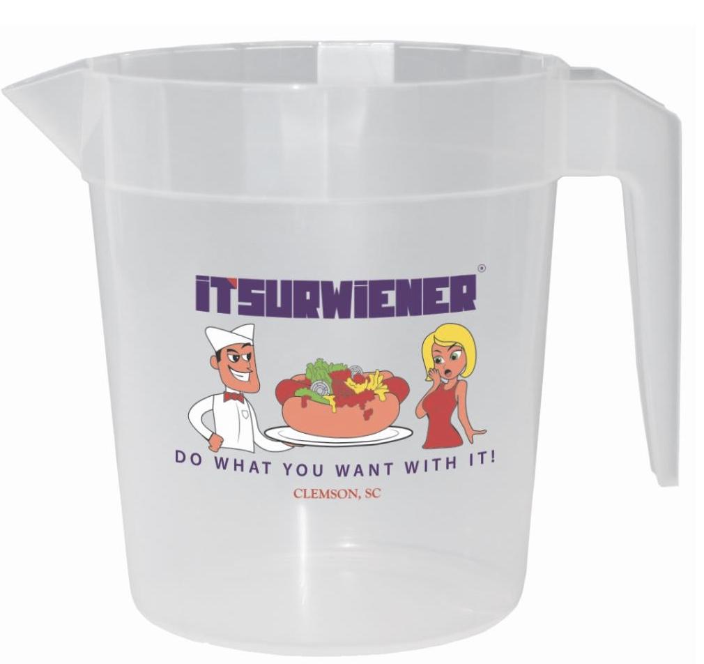 "ITSURWIENER Souvenir ""Litcher"" Pitcher - Cartoon Logo"