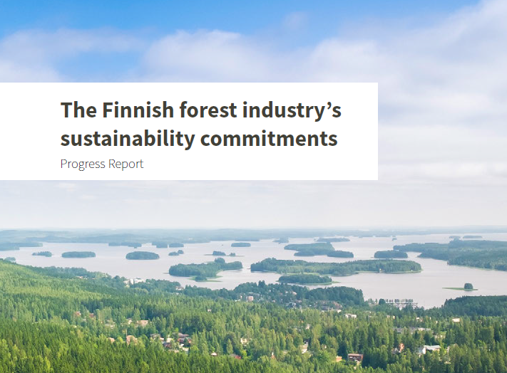 The Finnish forest industry's sustainability commitments - Progress Report