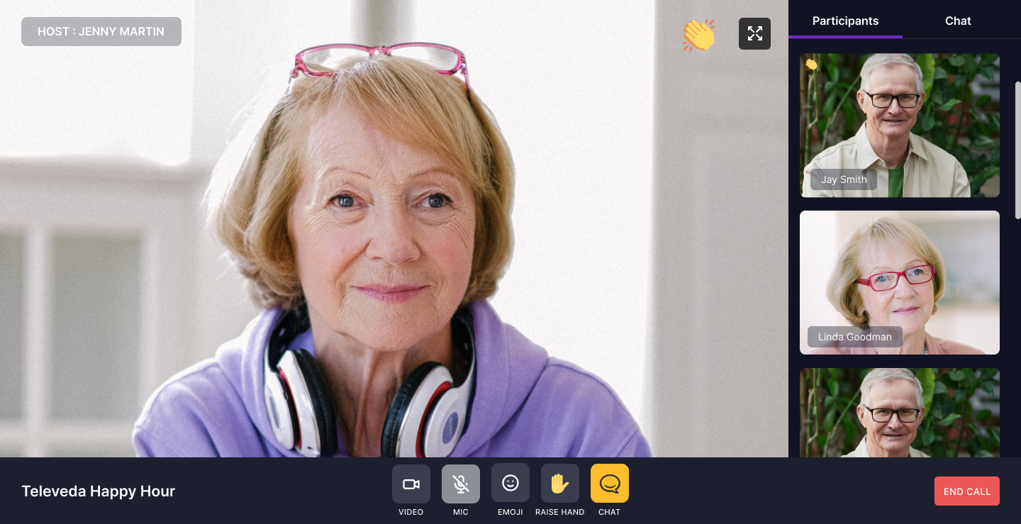 Televeda's intuitive user interface designed specifically for older adults