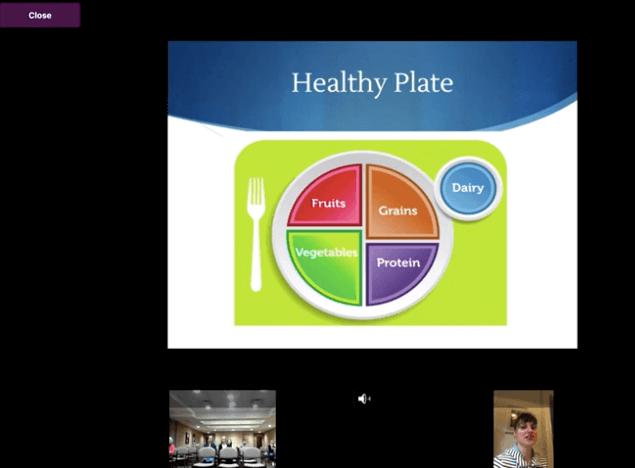 live stream nutrition class for seniors
