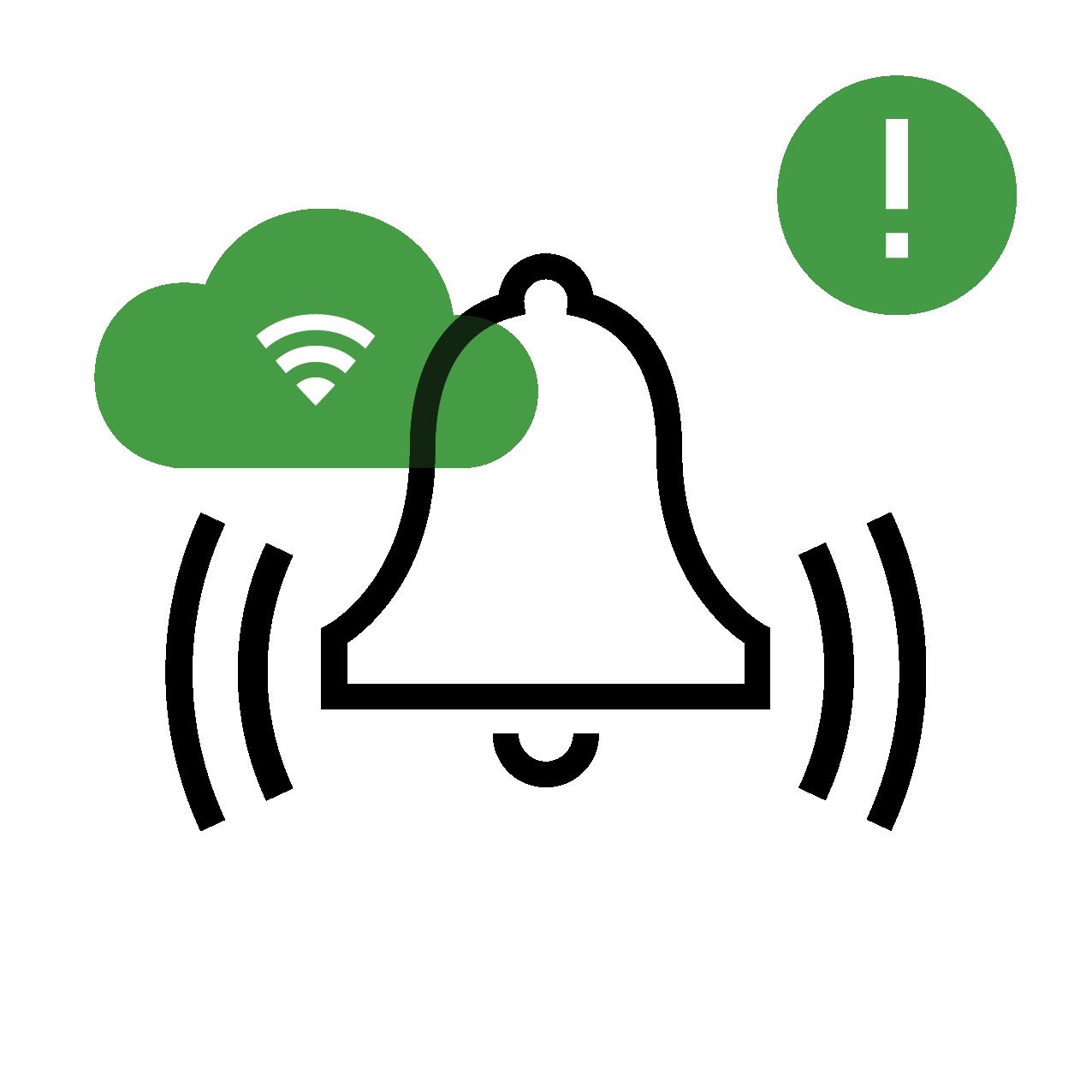 Burglary alarm icon, security panel