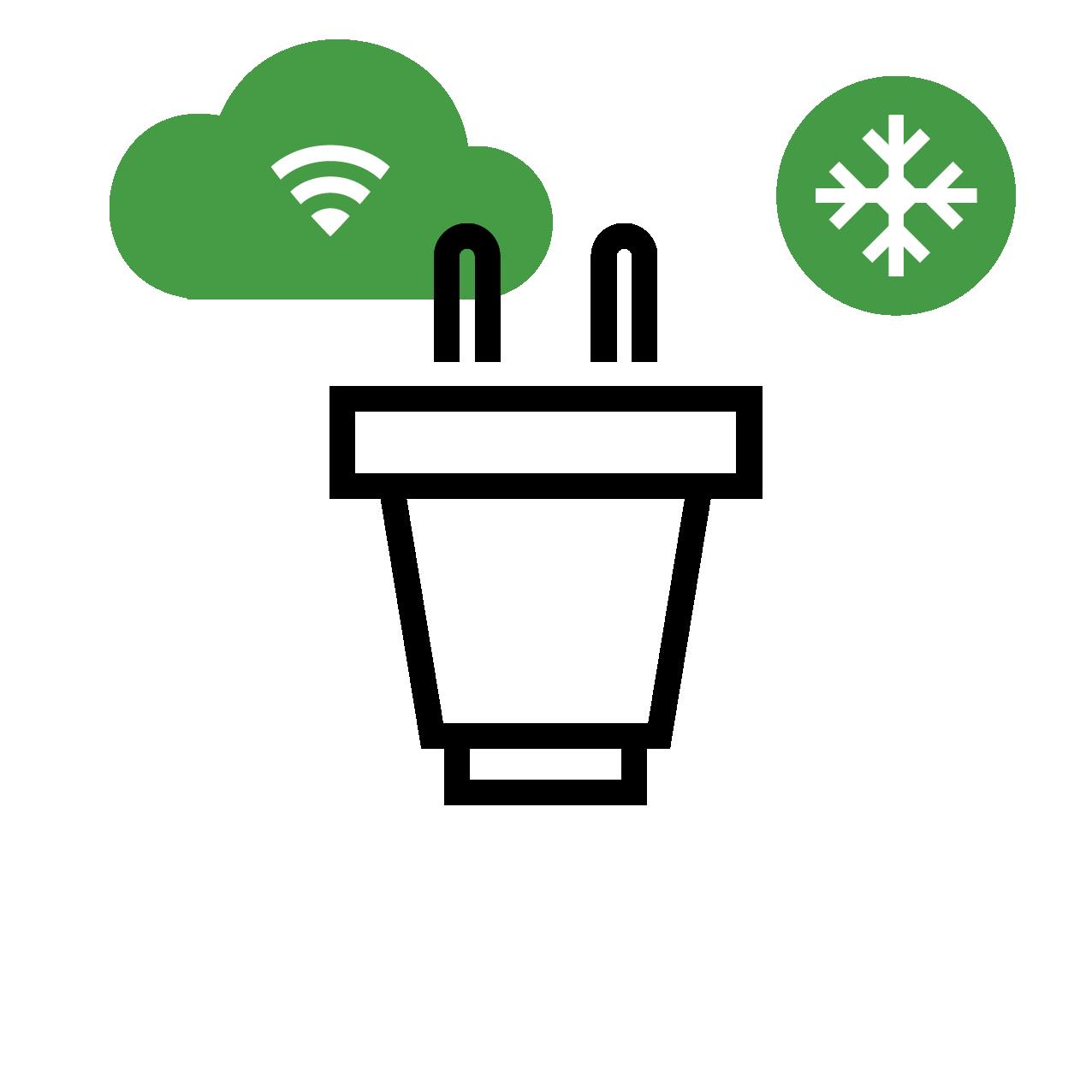 Energy management icon, temperature controls, thermostat