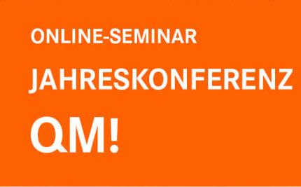 Online-Jahreskonferenz QM! Stabilität in bewegten Zeiten