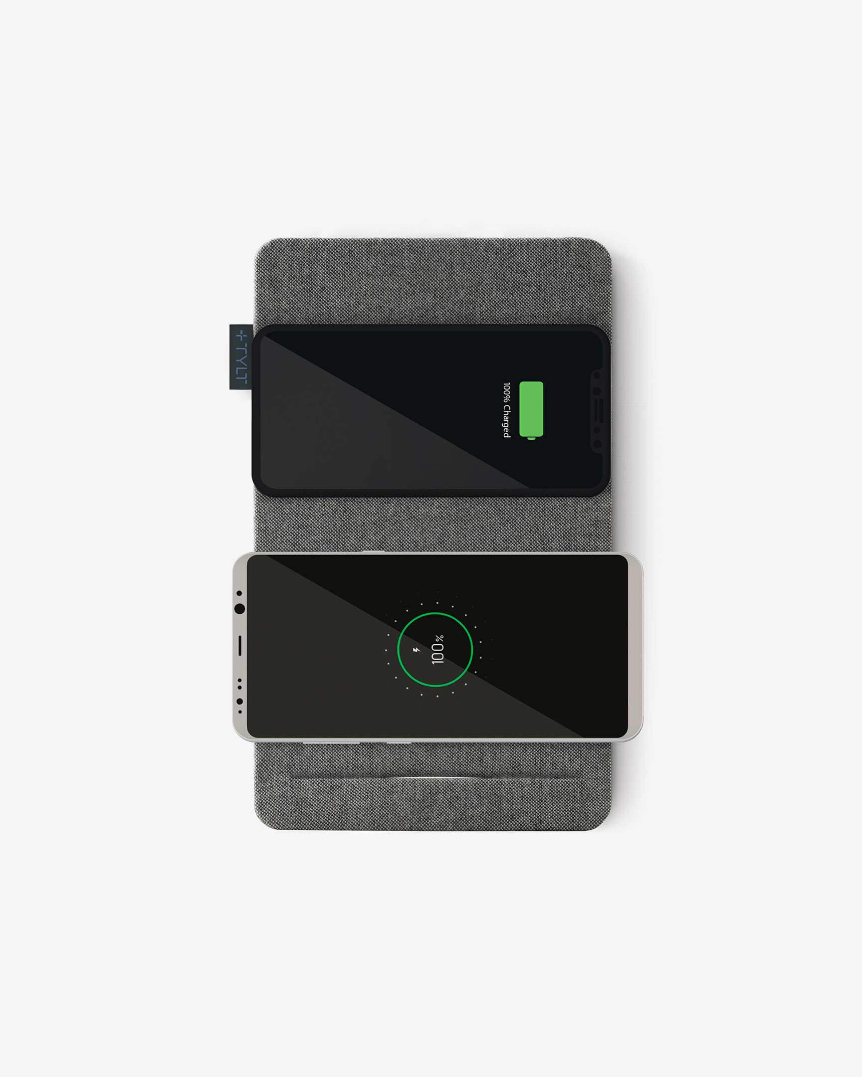 Tylt Mat top view charing phones