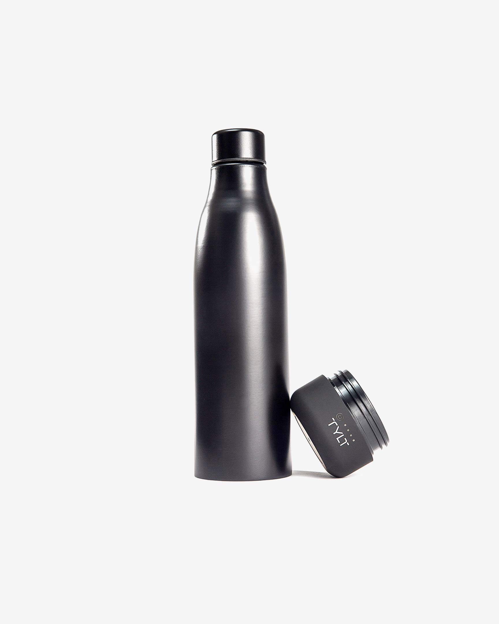 Bottle with the battery off, placed on the side
