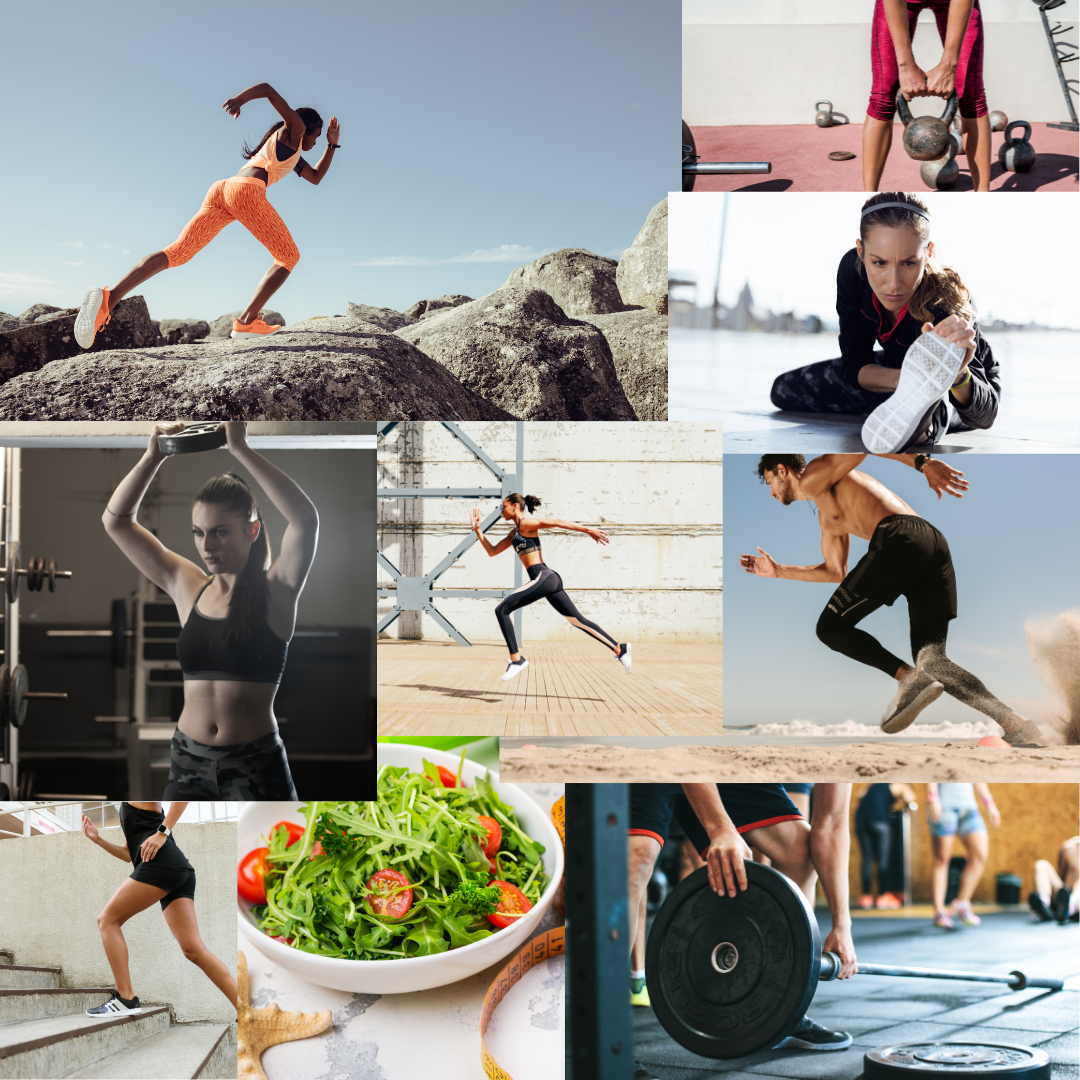 Collage of health & fitness images