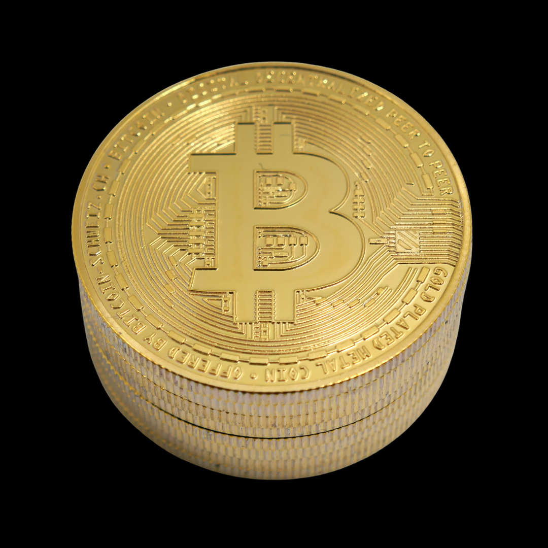Stack of Bitcoin