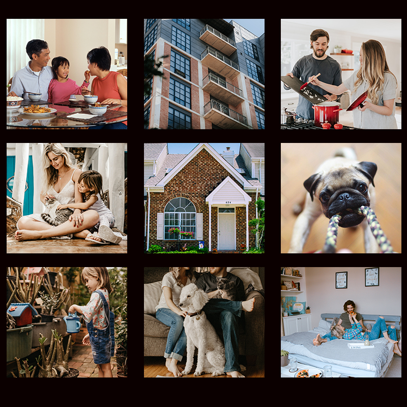 Collage of family images